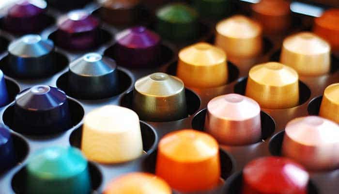 rangement des capsules à café