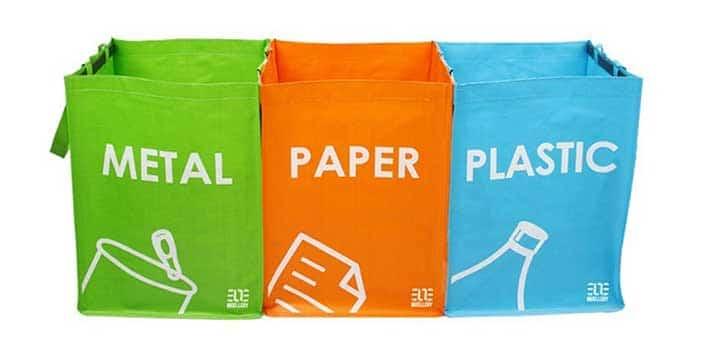 recyclage poubelle 3 sacs