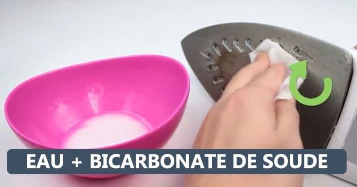 rincer fer eau plus bicarbonate soude
