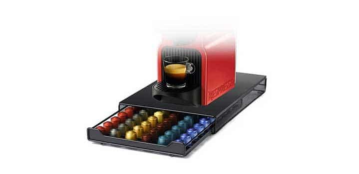 support à tiroir pour capsules nespresso