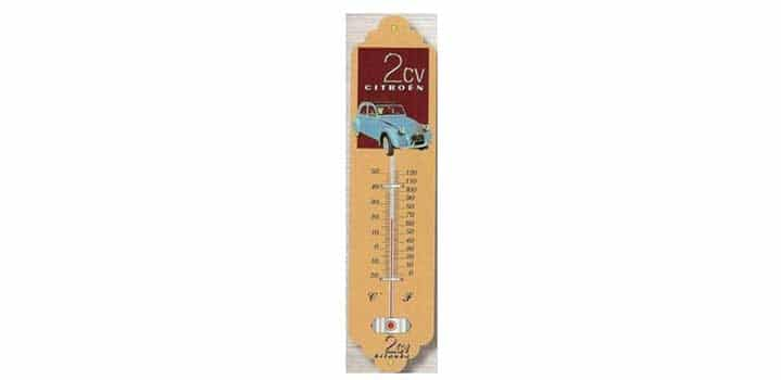 thermomètre décoration 2cv