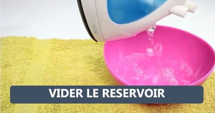 vider reservoir fer a repasser