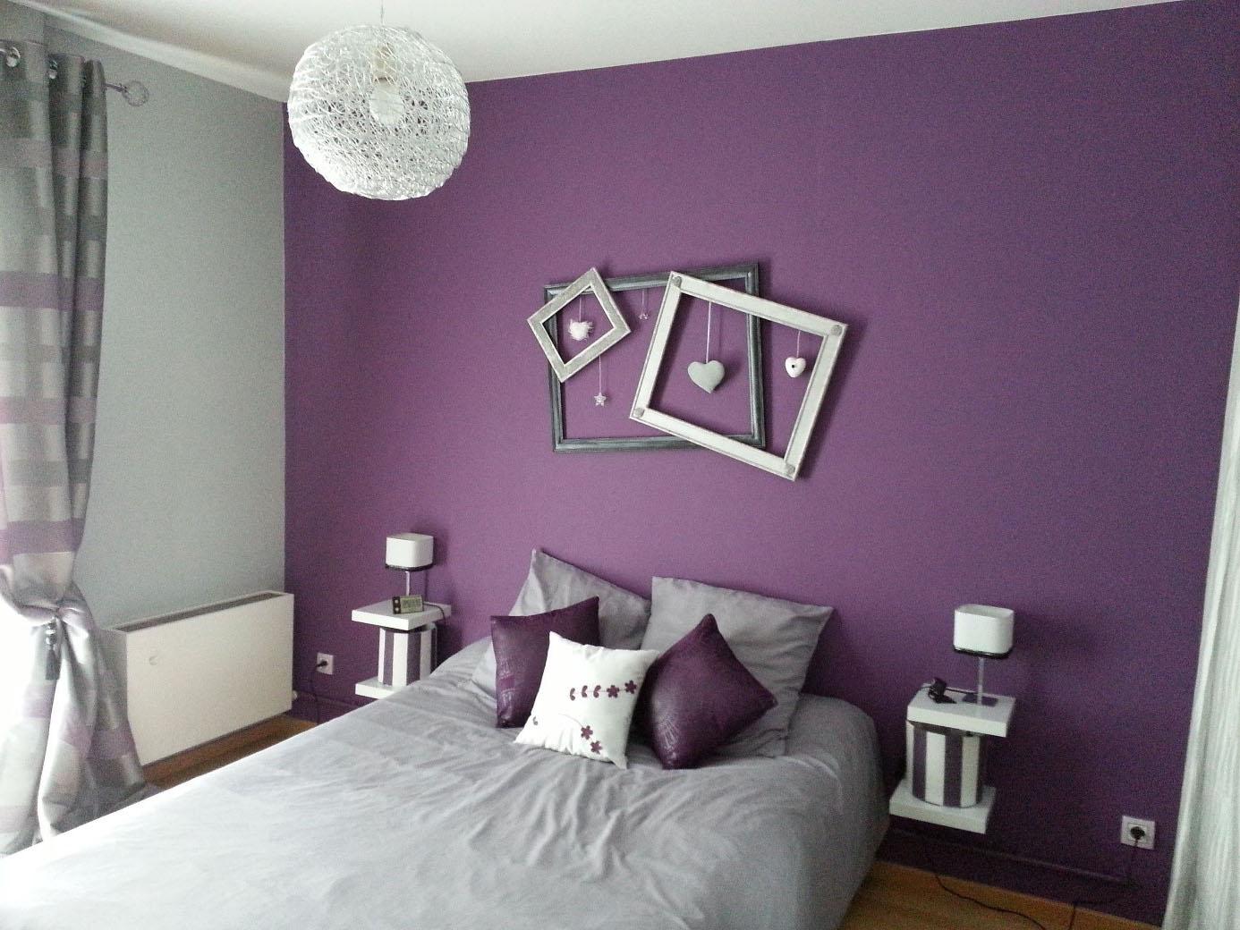 Aplat Violet couleur chambre