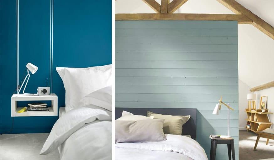 Camaïeu de bleu moderne pour chambre