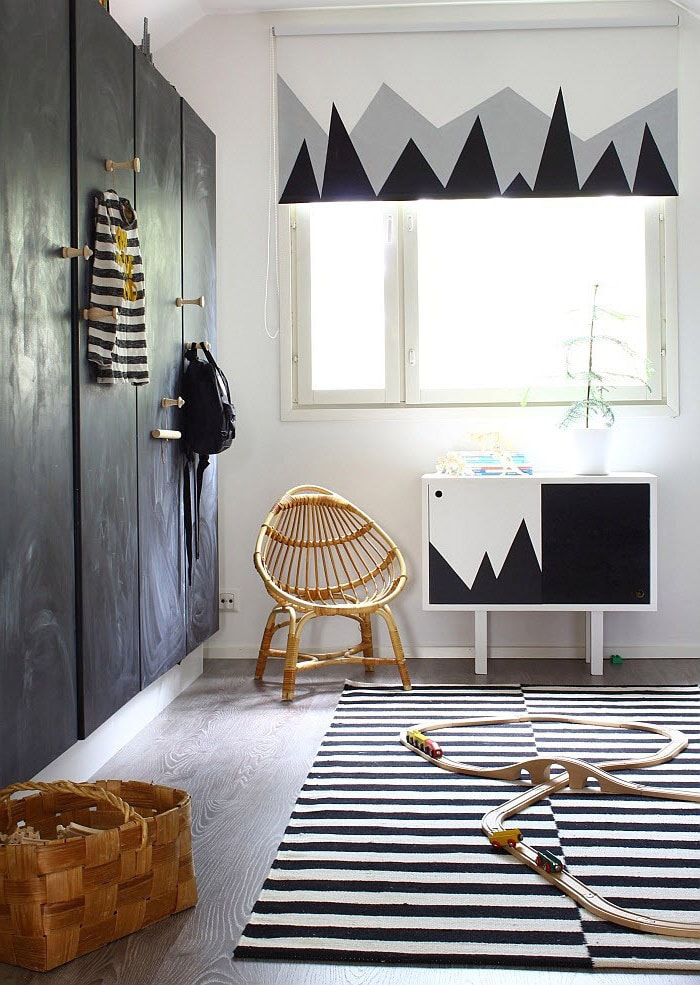 Chambre couleur blanc et gris