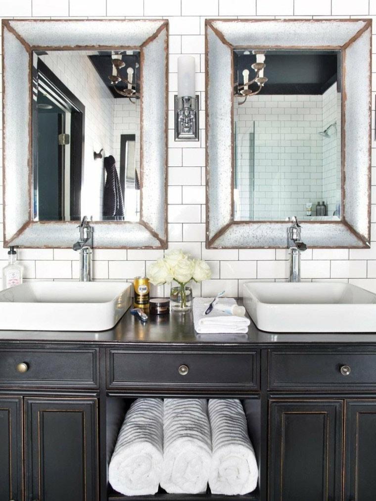 Double vasque salle de bain retro
