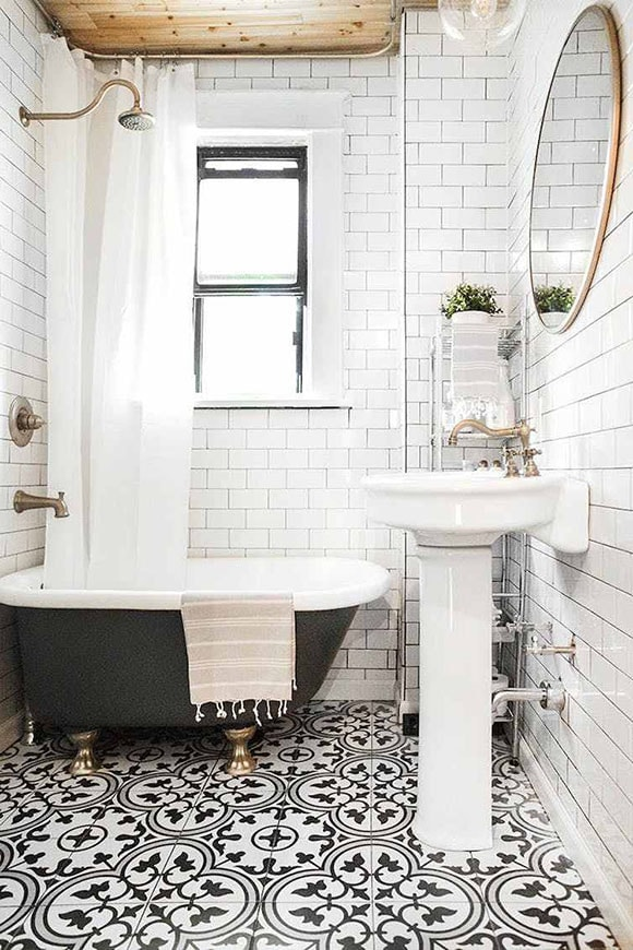 Ensemble vintage pour salle de bain