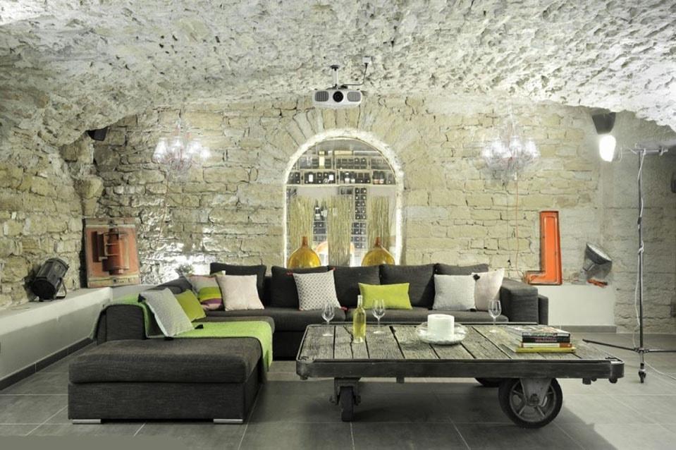 Idées deco Salon industriel cocooning