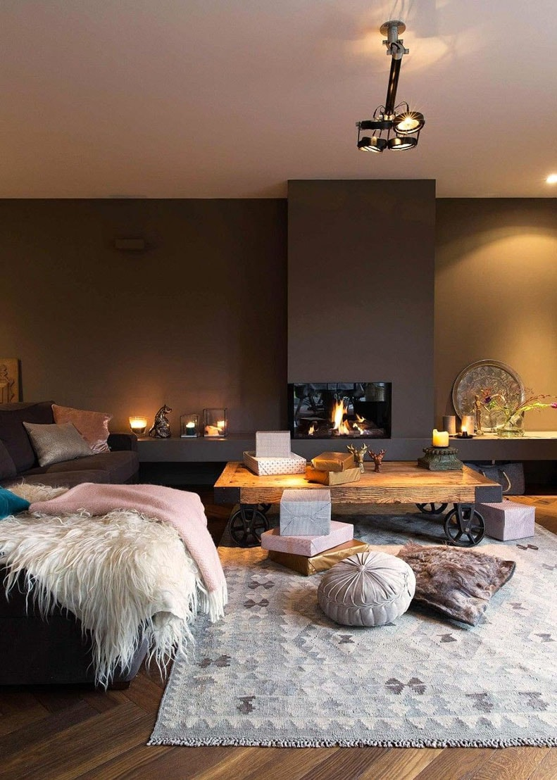 salon cocooning 10 id es pour cr er un salon cosy et chaleureux. Black Bedroom Furniture Sets. Home Design Ideas