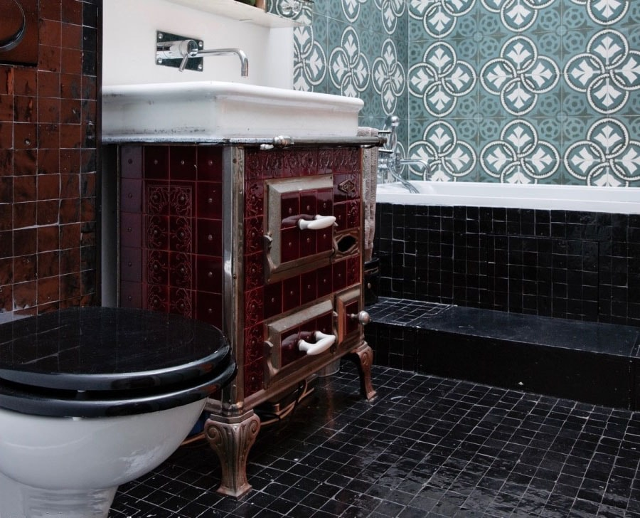 Toilette et meuble vasque retro classique