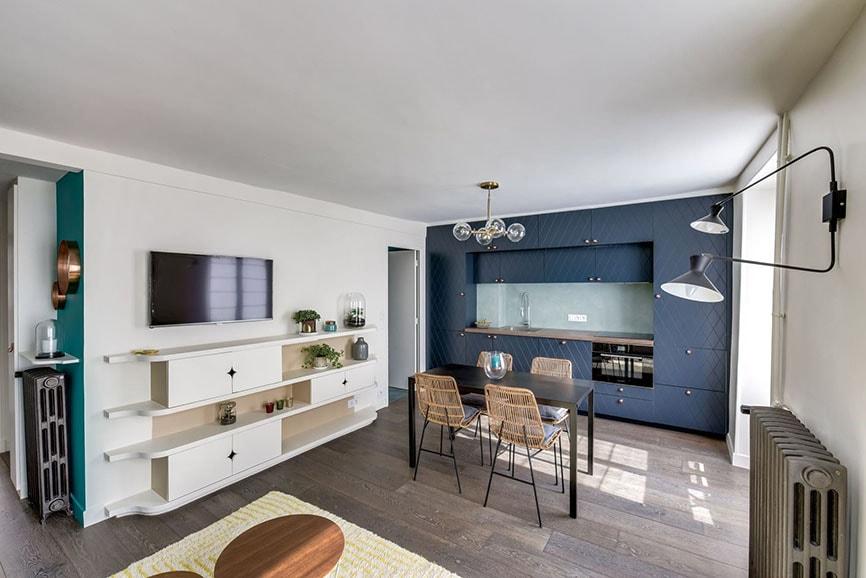 aménagement cuisine ouverte sur salon