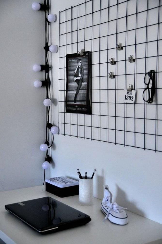 chambre noir et blanc pour ado
