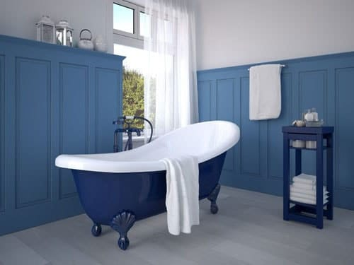camaieu bleu et blanc salle de bain