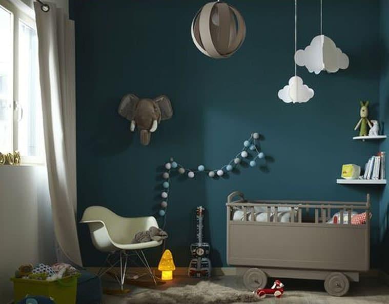 Chambre Bebe Deco Bleu Canard