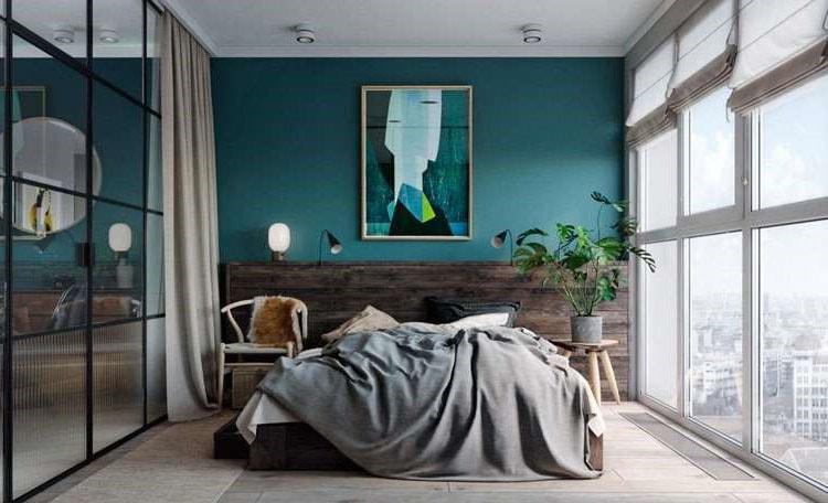 Chambre Design Bleu