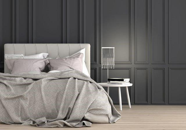 Merveilleux Chambre Luxe Grise Et Blanche