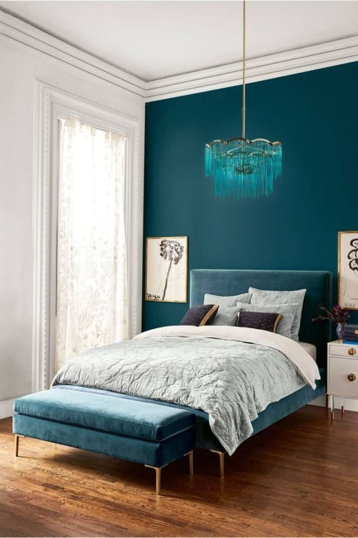 chambre bleu canard toutes nos id es pour une d coration r ussie. Black Bedroom Furniture Sets. Home Design Ideas