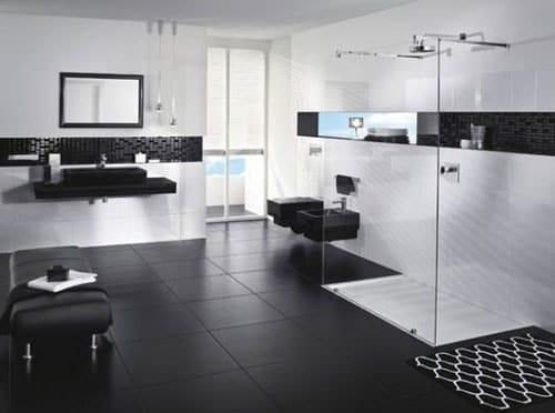 couleur noire salle de bain