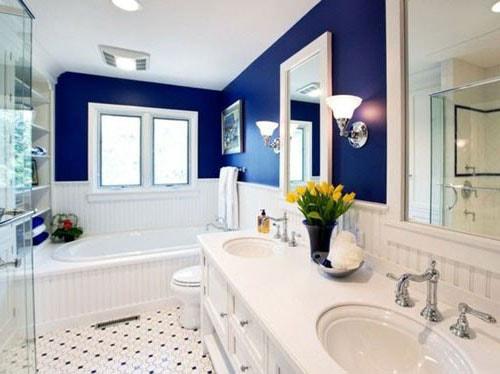 couleur traditionnelle salle de bain