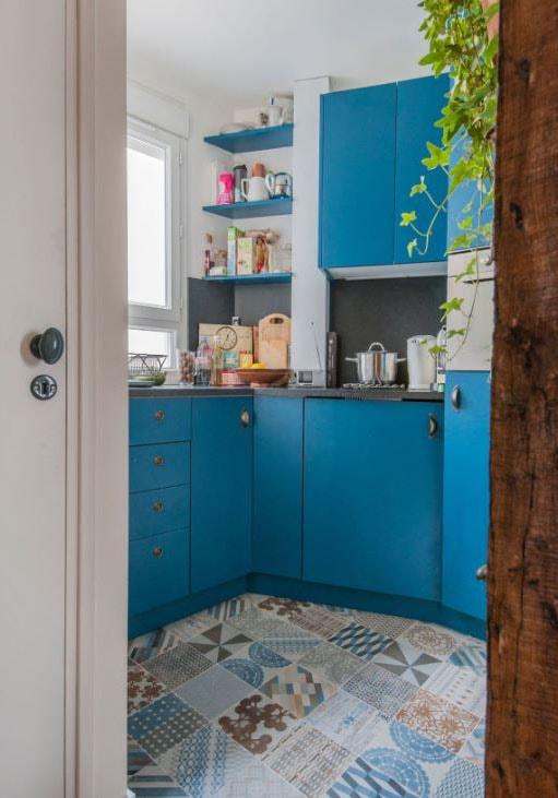 cuisine decor bleu moderne