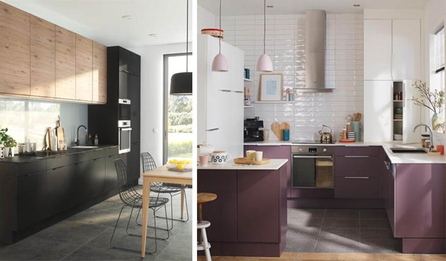 Peinture cuisine quelles sont les couleurs tendance en 2018 - Peinture meuble cuisine castorama ...