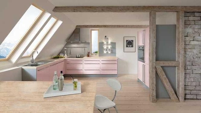 cuisine rose peinture