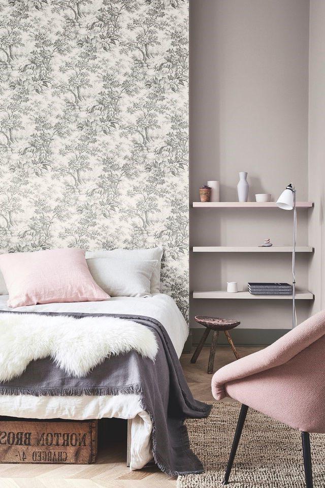 deco chambre gris et blanc rose poudre