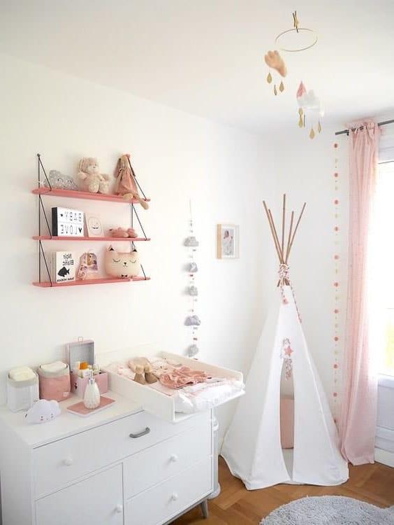 deco chambre rose bébé
