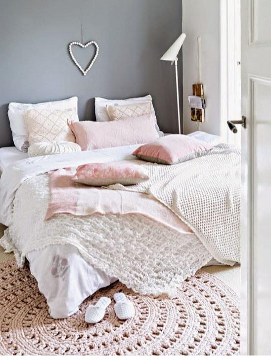 deco textile chambre pour adulte romantique
