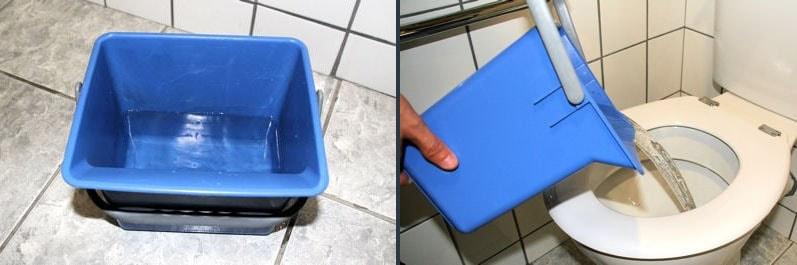 eau chaude pour deboucher toilettes