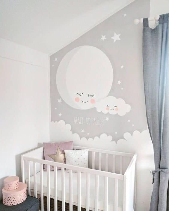 fresque murale deco bebe