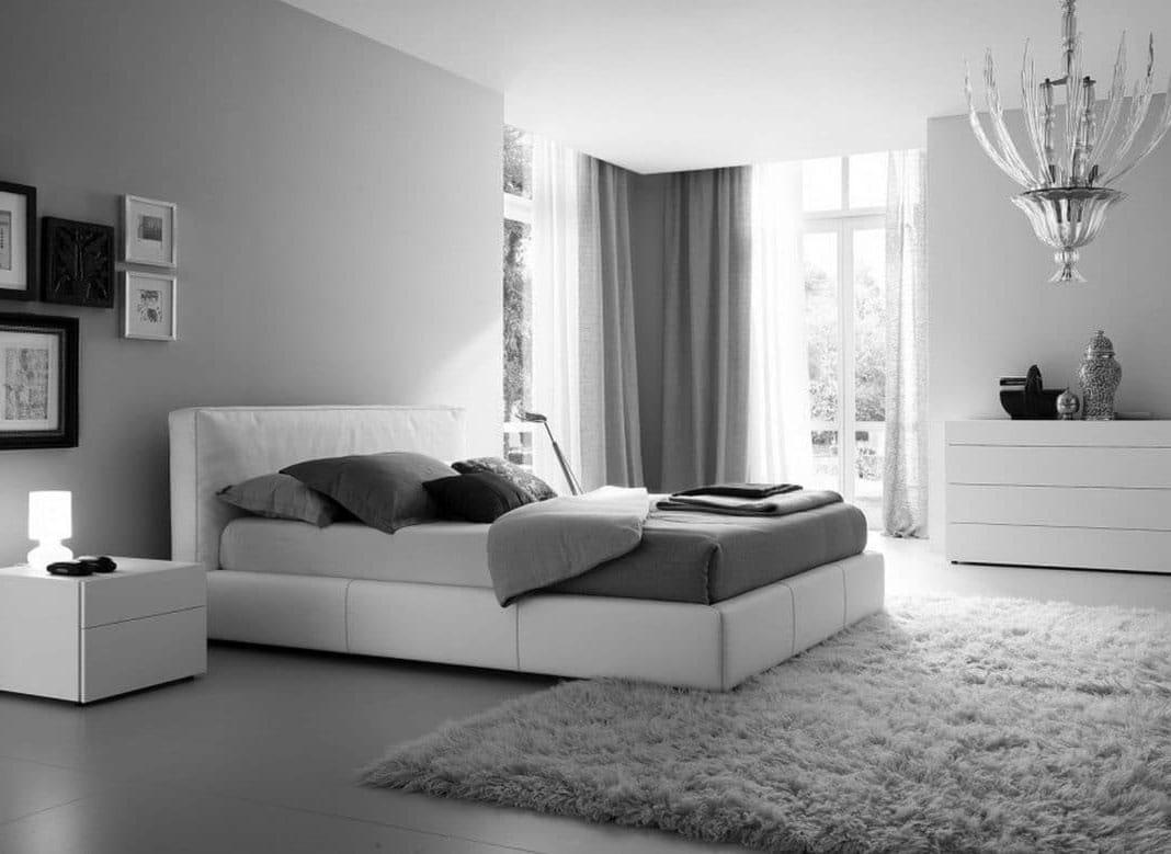 grande chambre noir et blanc