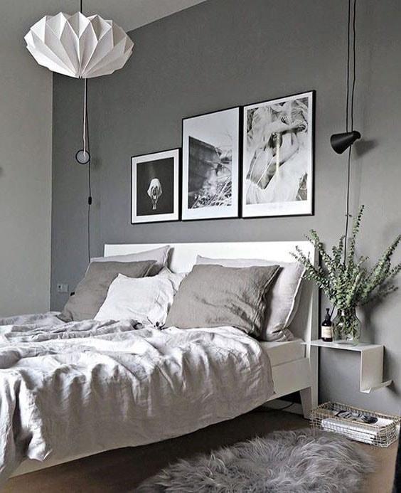 Idée Déco Cadres Noir Et Blanc Chambre Romantique