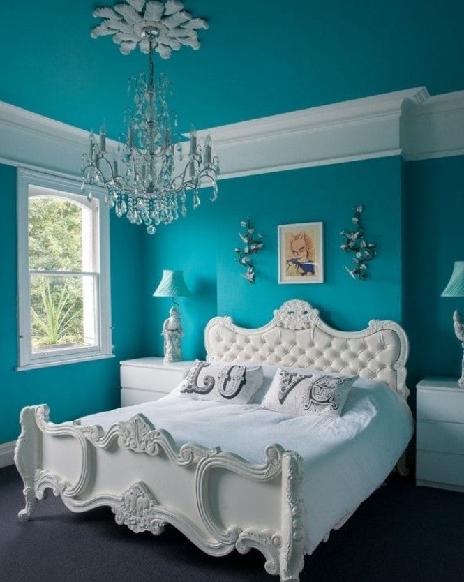 Lit Chambre Turquoise