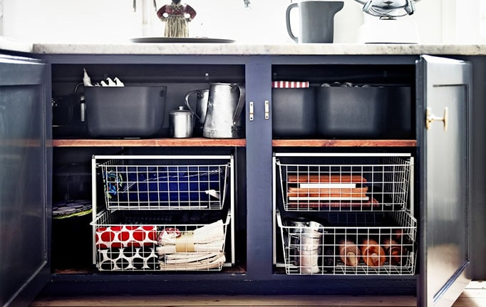 meuble bas pour rangements de cuisine
