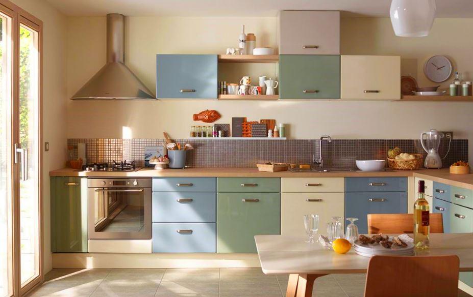 peinture cuisine quelles sont les couleurs tendance en 2018. Black Bedroom Furniture Sets. Home Design Ideas