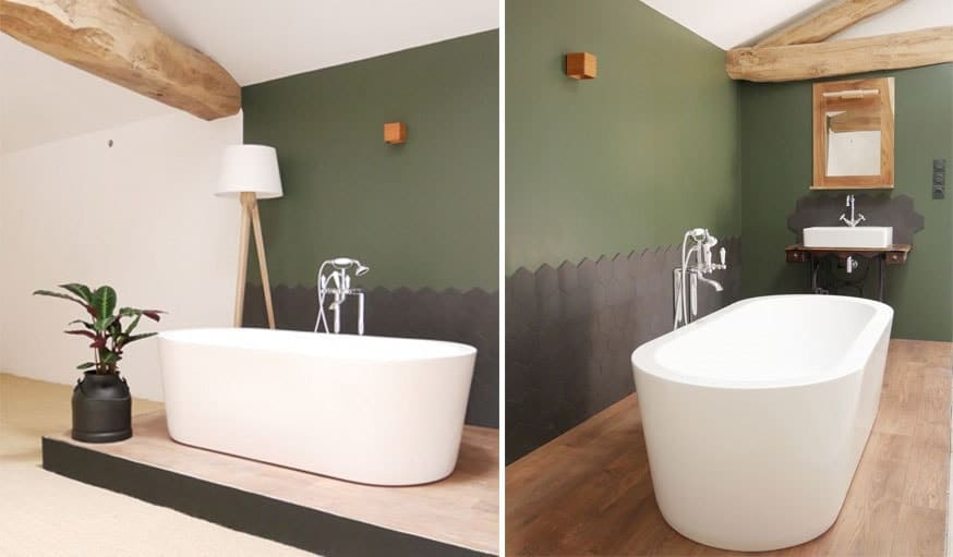 Peinture sdb free peinture dcorative pour meubles de salle de bains with peinture sdb simple - Peinture pour salle de bain carrelage ...
