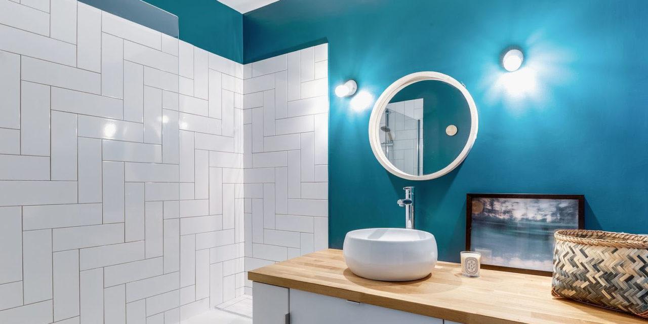 peinture salle de bain 40 id es de couleurs pour une d co tendance. Black Bedroom Furniture Sets. Home Design Ideas