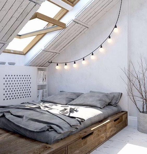 photo deco chambre adulte romantique avec lampion