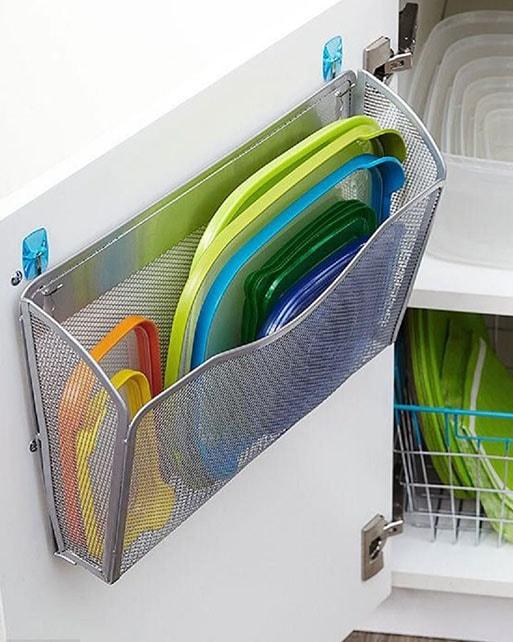 rangement boites plastiques cuisine