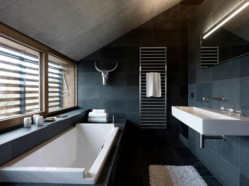 salle de bain zen ardoise naturelle