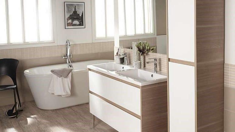 espace zen salle de bain beige