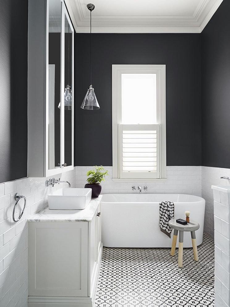 salle de bain epurée