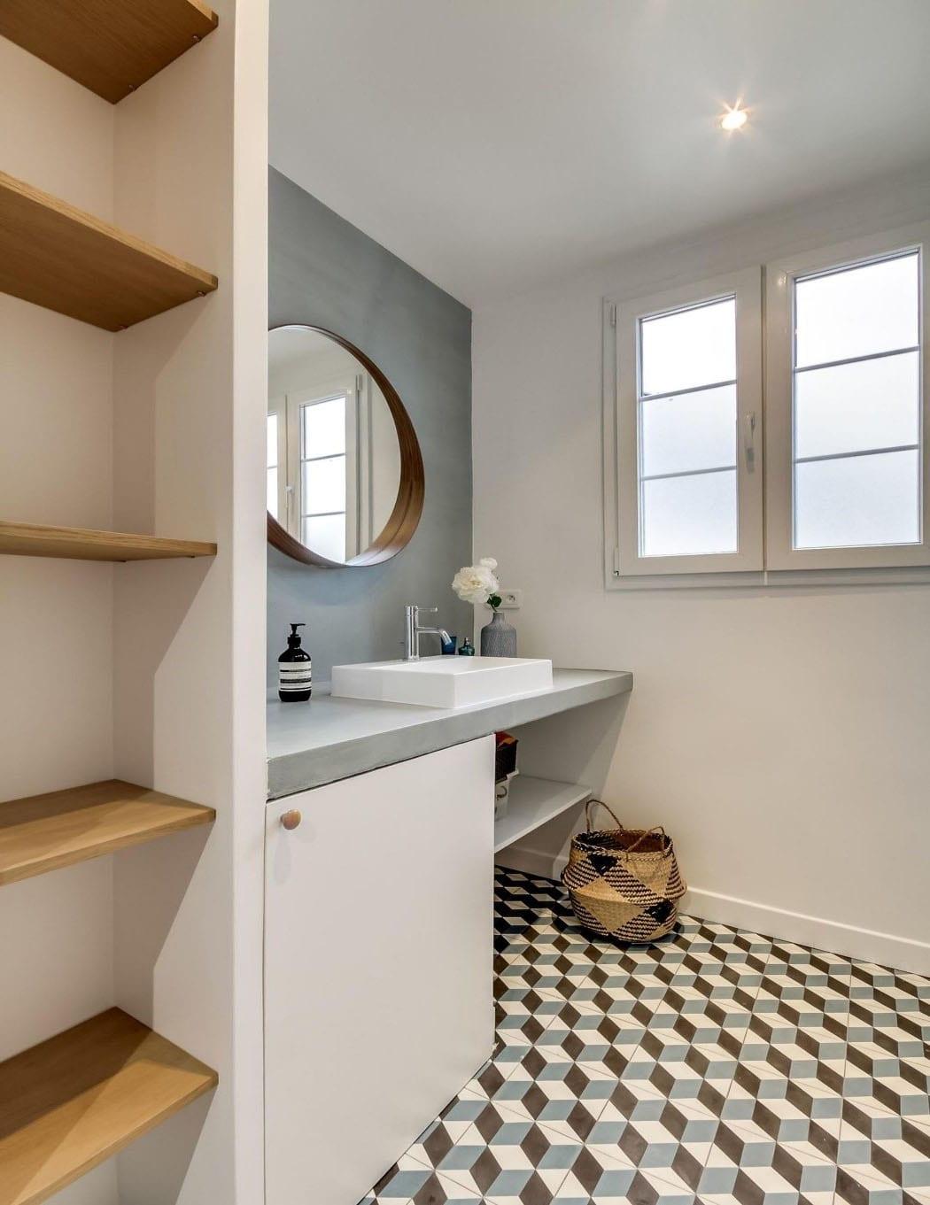 salle de bain motif 3 d deco