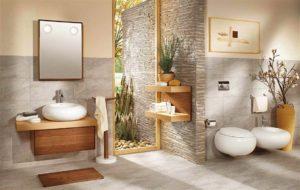 salle de bain naturel