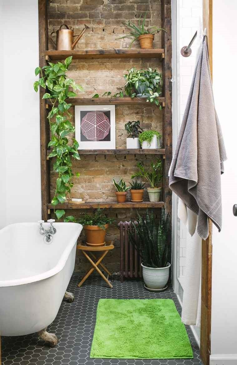 salle de bain plantes naturelles