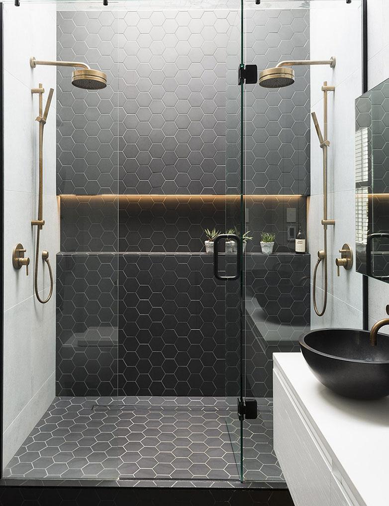 salle de douche couleur