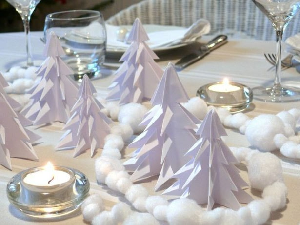 sapin noel origami deco table