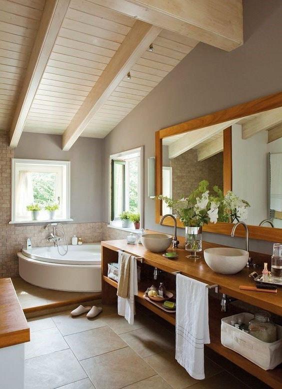 salle de bain zen bois