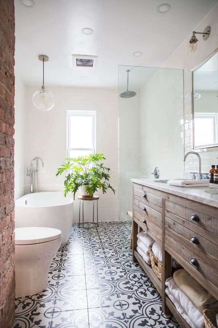 salle de bain zen bois brut